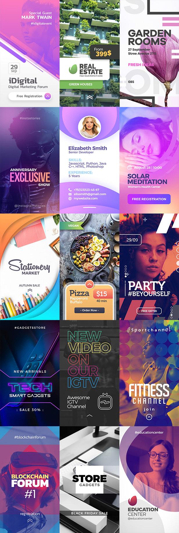 دانلود پروژه افترافکت Instagram Stories - مجموعه استوری های آماده اینستاگرام